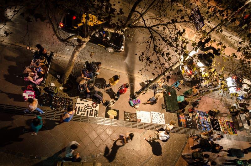 Santiago rynek przy nocą zdjęcia stock