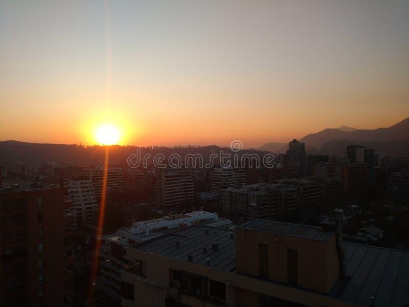 Santiago Skyline photos stock