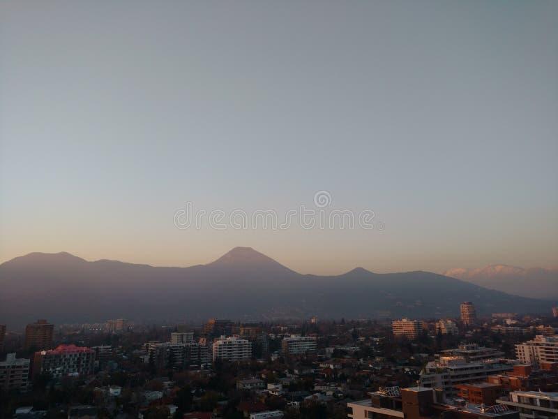 Santiago Skyline photo stock
