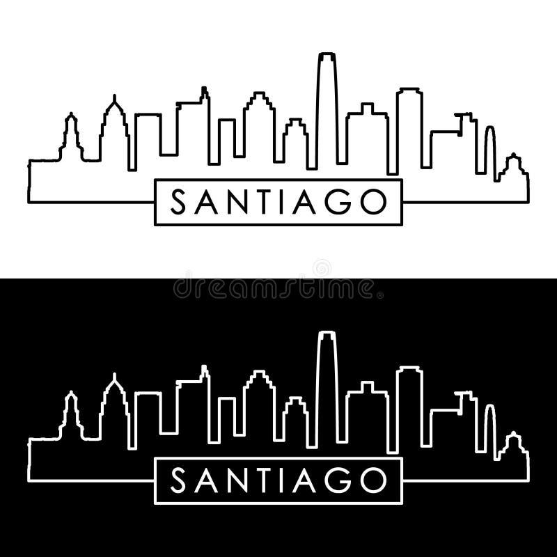 Santiago Skyline estilo linear libre illustration