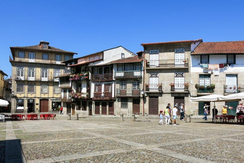 Santiago Square in Guimaraes, Portugal royalty-vrije stock fotografie