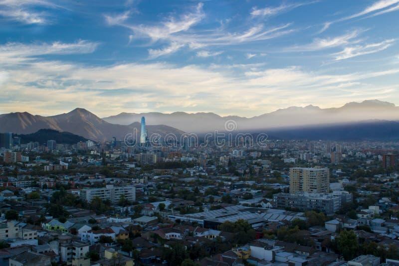 Santiago-Stadt in Chile lizenzfreie stockfotos