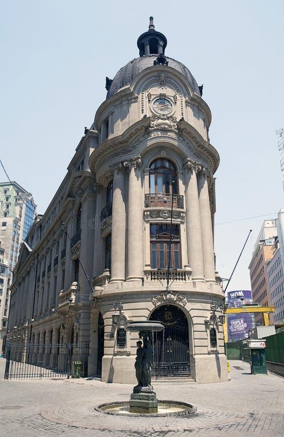 Santiago Stock Exchange, Santiago de Cile, Chile stock photos