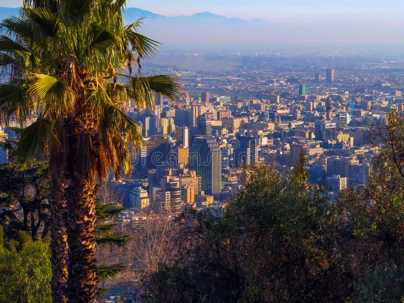 Santiago tun Chile lizenzfreie stockfotos