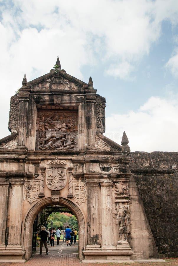 Santiago velho do forte da porta, Manila, Filipinas fotos de stock