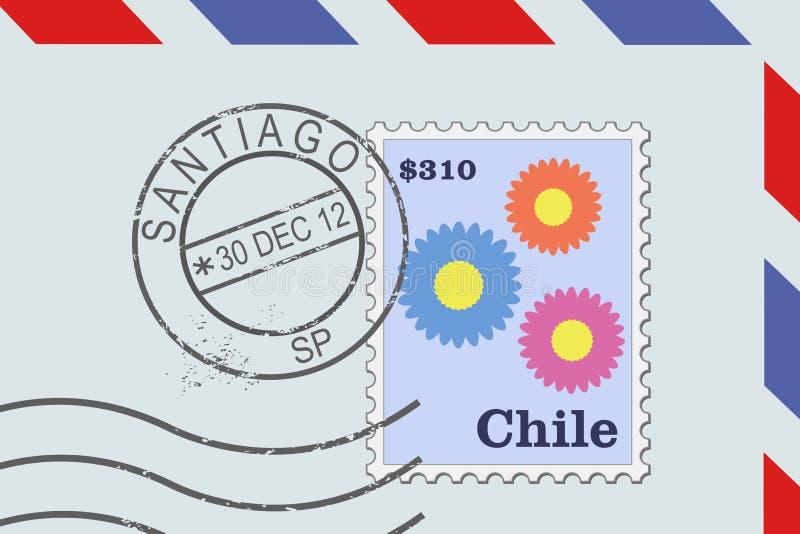 Santiagode Chile lizenzfreie abbildung