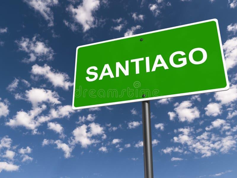 Santiagotrafiktecken royaltyfri illustrationer