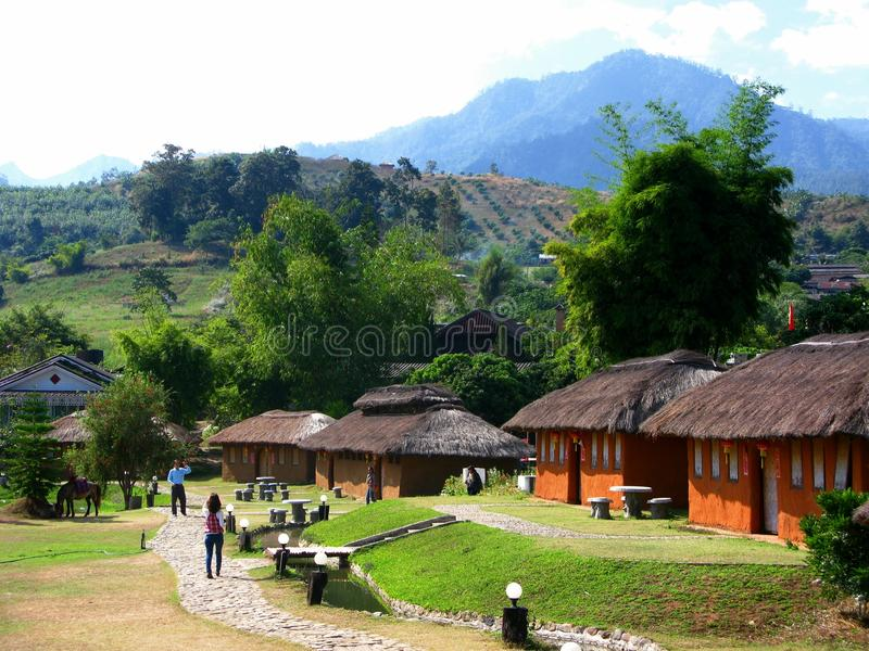 Santichondorp, Mae Hong Son Province, Thailand royalty-vrije stock afbeelding