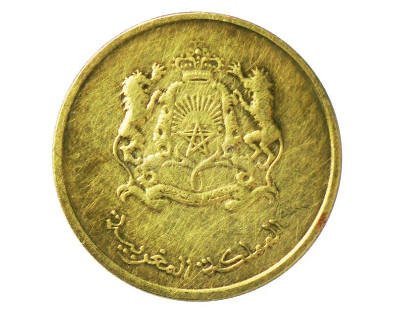 20 Santimat die Seerose-und Wasser-Schutzmünze, 2002-/AH1420-Today   Mohammed VI-serie, Bank von Marokko lizenzfreie stockbilder