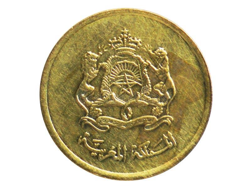 10 Santimat Sport- und solidaritätsmünze, 2002-/AH1420-Today   Mohammed VI-serie, Bank von Marokko lizenzfreie stockfotografie