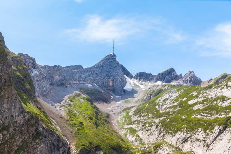 Santis和Alpstein断层块 免版税库存照片