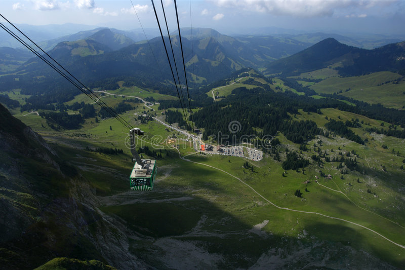 Santis in Switzerland stock image