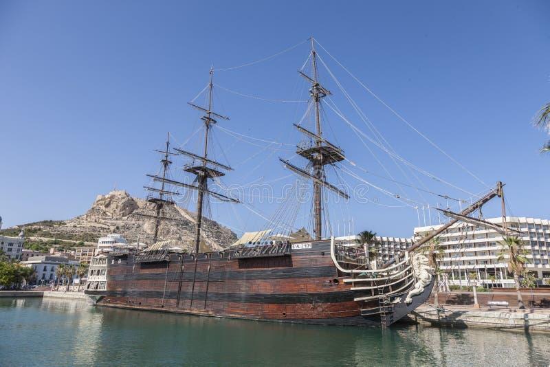 Santisima Trinidad In Alicante Harbour Stock Images