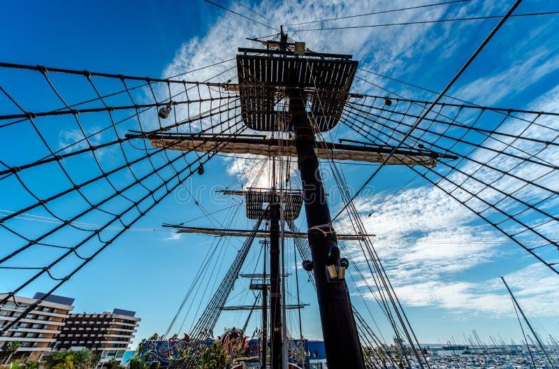 Santisima Trinidad dans le port d'Alicante images libres de droits
