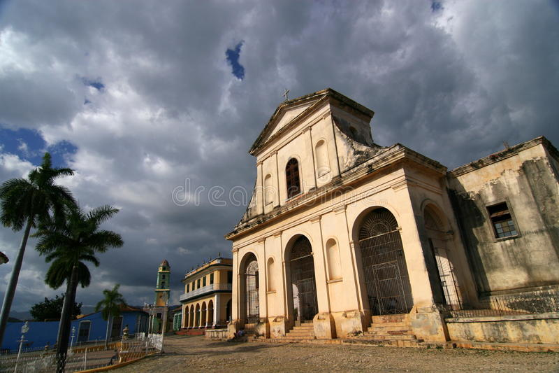 Santisima Trinidad kyrka, Trinidad, Kuba royaltyfri bild