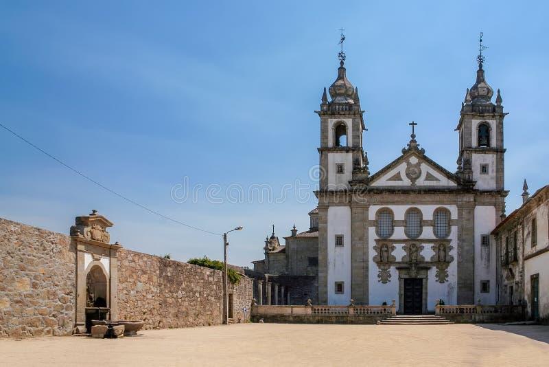Santo安德烈de Rendufe Monastery 18世纪巴落克式样 Amares,葡萄牙 库存图片