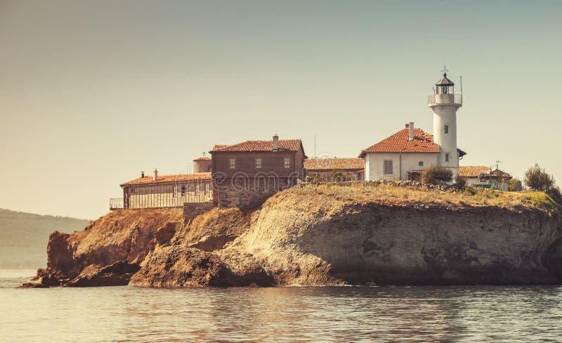 Santo Anastasia Island Bahía de Burgas, el Mar Negro imagen de archivo libre de regalías