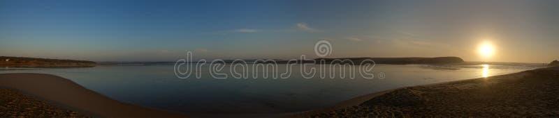 Santo Andre lagoon panorama royalty free stock photos