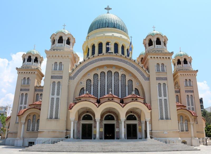 Santo Andrew Basilica de Patras fotografía de archivo libre de regalías