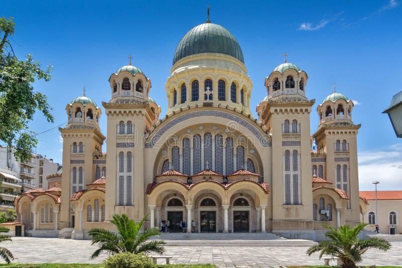 Santo Andrew Church, la iglesia más grande de Grecia, Patras, Peloponeso, Grecia occidental imagen de archivo