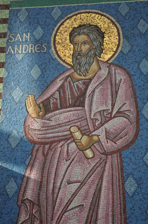 Santo Andrew Figure fotos de archivo