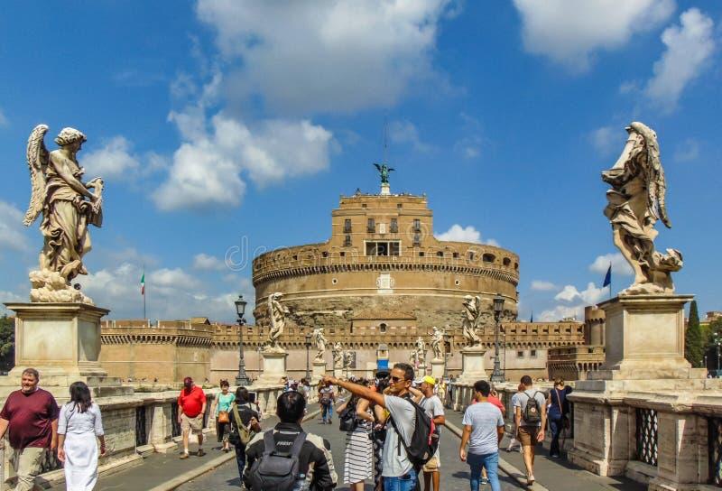 Santo Angel Castel, Roma foto de archivo libre de regalías