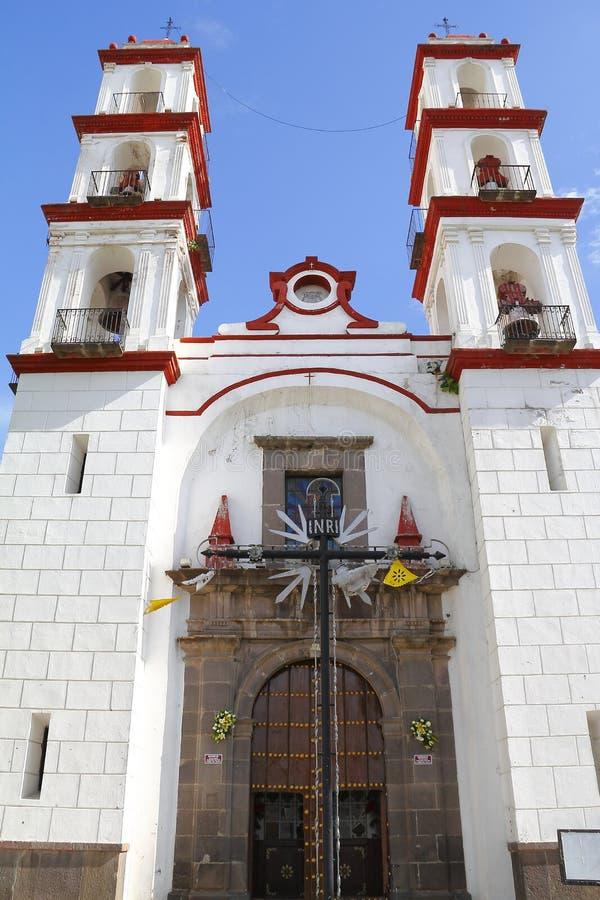 Santo angel custodio church in puebla IV royalty free stock photo