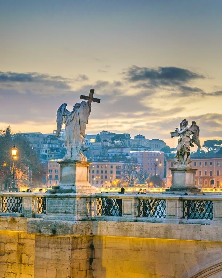 Santo Angelo Bridge, Roma, Italia foto de archivo libre de regalías