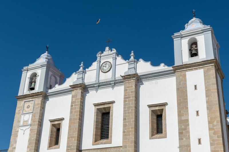 Santo Antao Church in Evora royalty free stock photography