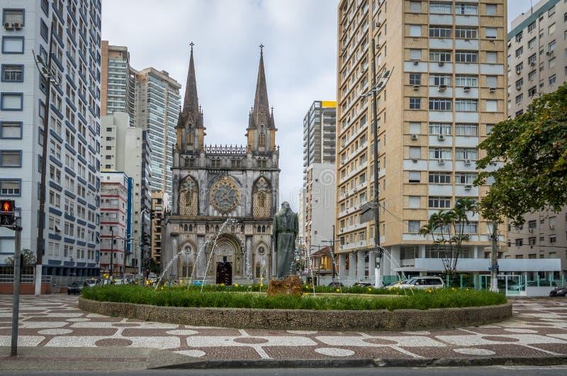 Santo Antonio Church - Santos, Sao Paulo, Brasile immagine stock