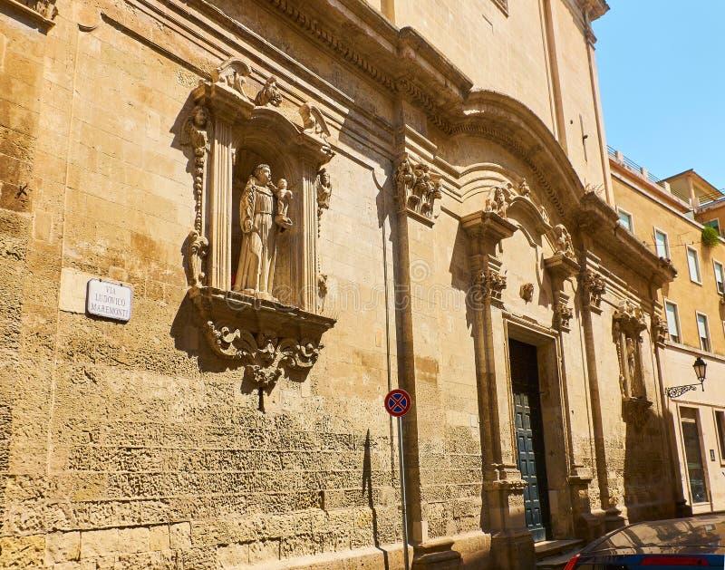 Santo Antonio-dellapiazza kerk van Lecce Puglia, Italië royalty-vrije stock foto