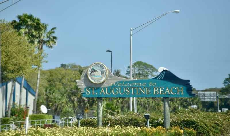 Santo Augustine Beach, St Augustine Florida imagenes de archivo