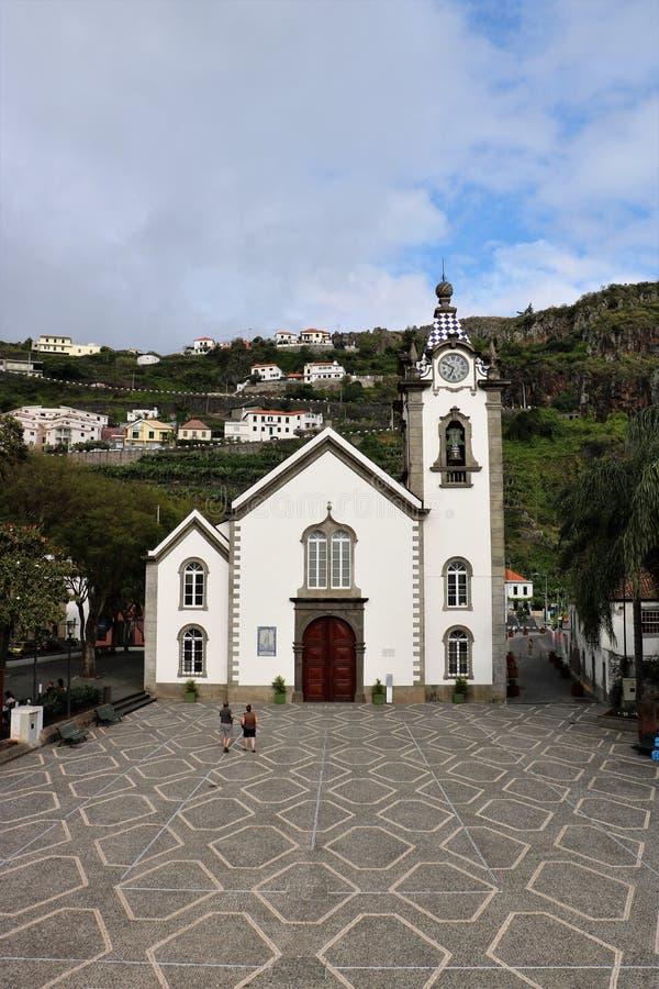 Santo Benedict Church, Ribeira Brava, Madeira foto de archivo