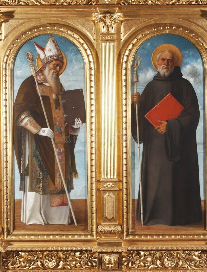 Santo Benedicto y St Augustine imágenes de archivo libres de regalías