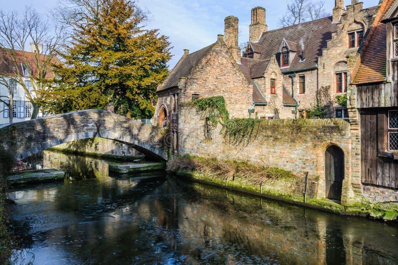 Santo Bonifacius Bridge en Brujas, Bélgica imágenes de archivo libres de regalías