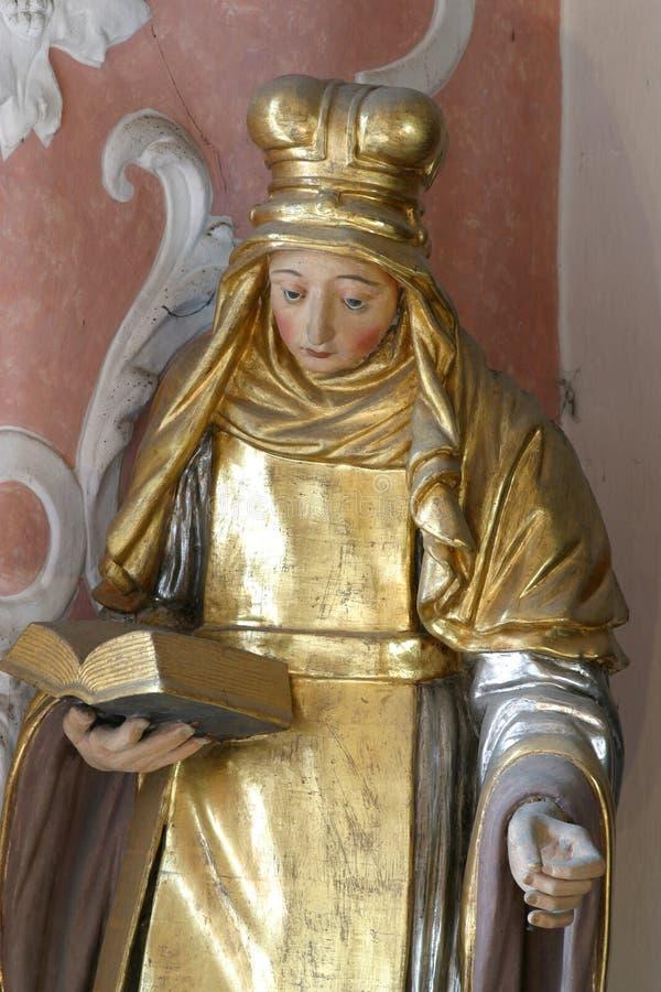 Santo Bridget de Suecia foto de archivo libre de regalías