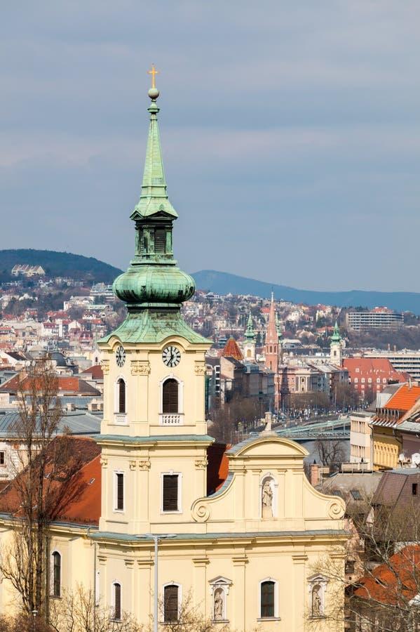 Santo Catherine de Alexandria Church en Budapest imagenes de archivo