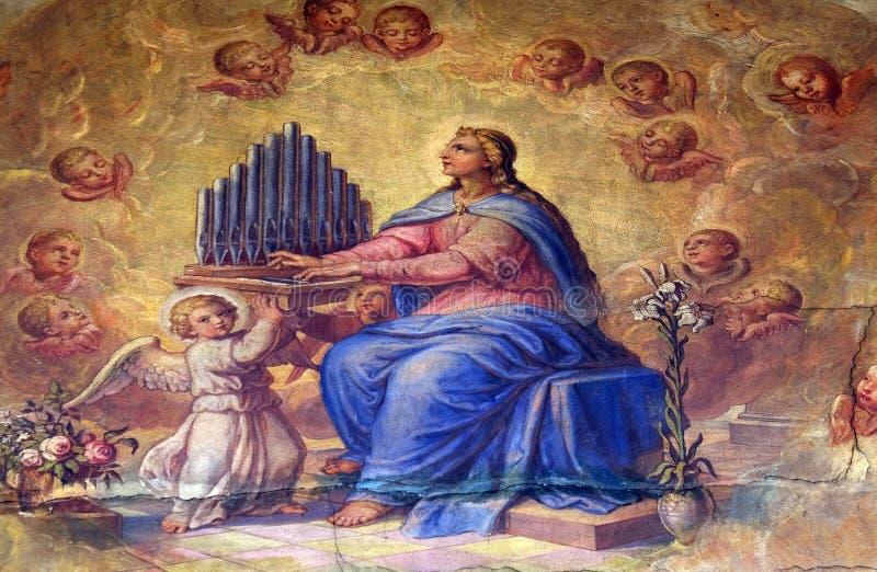 Santo Cecilia foto de archivo libre de regalías