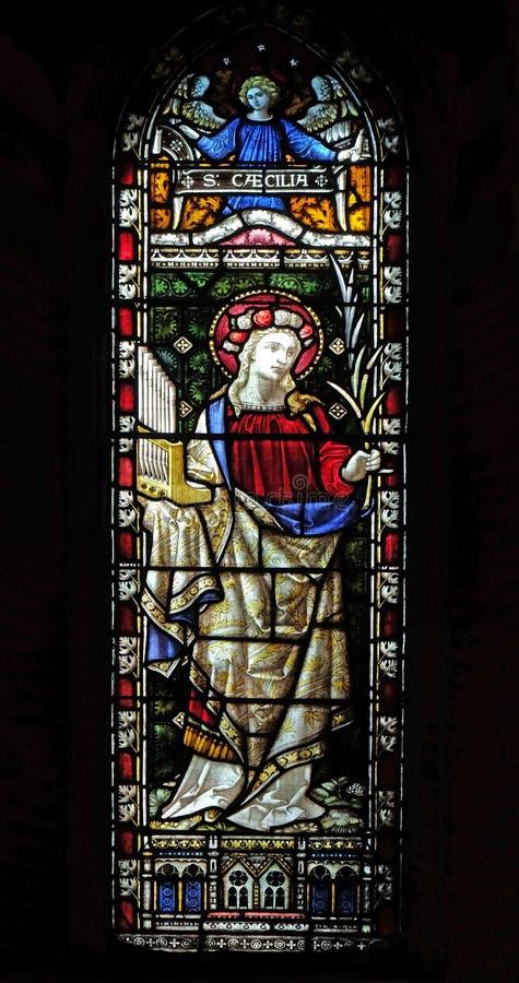 Santo Cecilia imagen de archivo libre de regalías