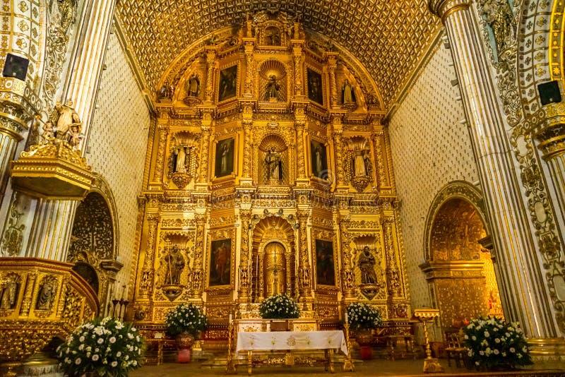 Santo Cristo de Sangre autel, Oaxaca, Mexico stock afbeelding