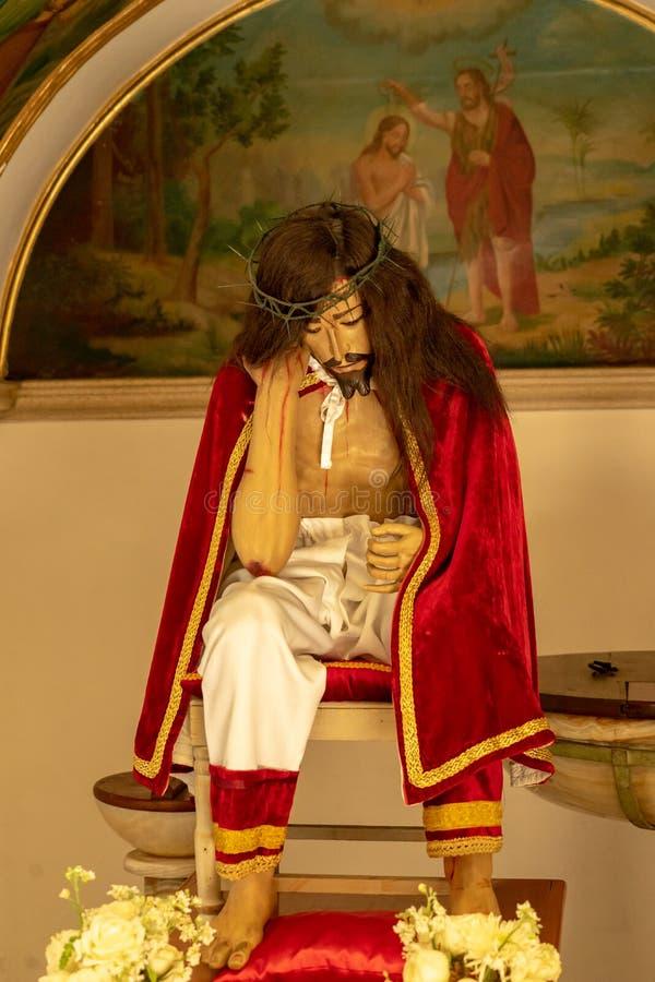 Santo Cristo de Sangre-beeldhouwwerk, Oaxaca, Mexico stock afbeeldingen