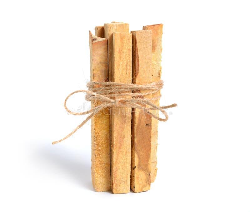 Santo di Palo, bastoni di legno santi isolati su fondo bianco immagini stock