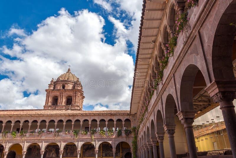Santo Domingo Church dans Cuzco, Pérou image libre de droits