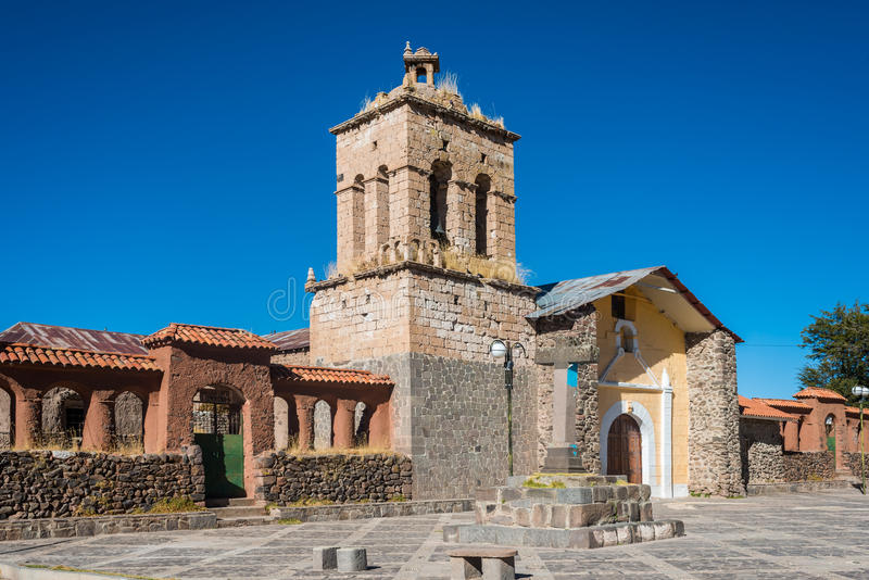 Santo Domingo Church de Peruviaanse Andes Puno Peru stock afbeelding