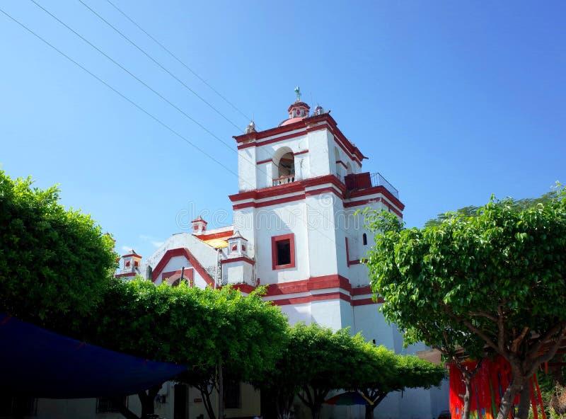 Santo Domingo Church in de stad van Chiapa DE Corzo stock afbeeldingen