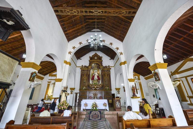 Santo Domingo Church em Mompox, Colômbia foto de stock