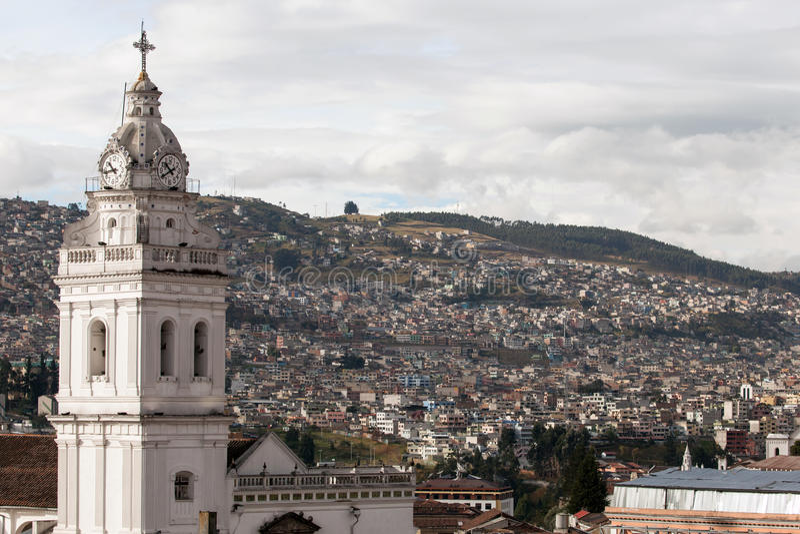 Santo Domingo Church i Quito, Ecuador arkivfoto
