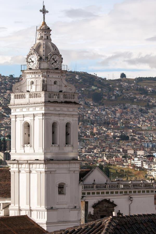 Santo Domingo Church i Quito, Ecuador royaltyfri fotografi