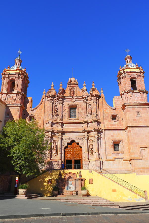 Santo domingo church II. Templo de Santo Domingo in the ancient mining city of Zacatecas, Mexico stock images