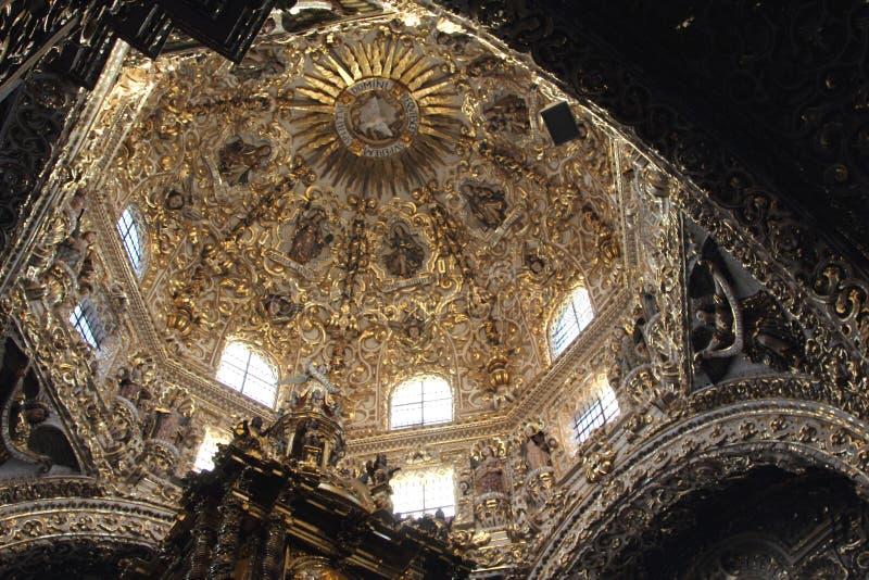 Santo Domingo Church, Puebla, México imagenes de archivo